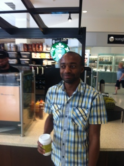 John's first Starbucks