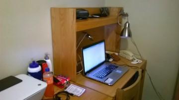 John's desk Aug 2014