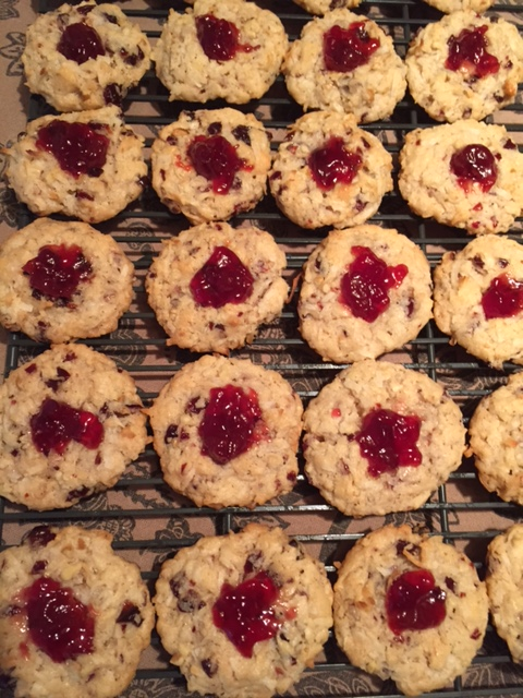 Tart Cherry & Walnut Macaroons