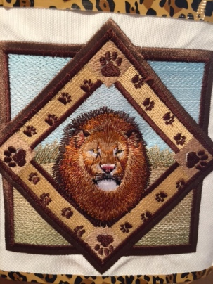 Hand embroidered emblem